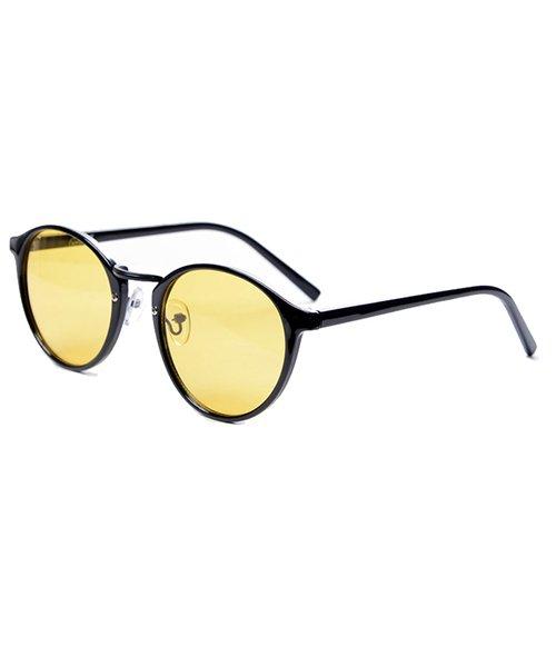 シルバーバレット CavariAクラシックボストン型伊達メガネ メンズ ブラック FREE 【SILVER BULLET】