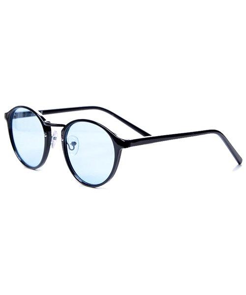 シルバーバレット CavariAクラシックボストン型伊達メガネ メンズ ブラック系4 FREE 【SILVER BULLET】