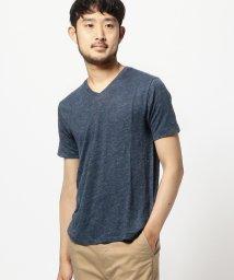 BEAMS MEN/BEAMS / フランダースリネン Vネック Tシャツ/500740879