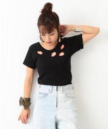 BEAMS OUTLET/◇TONDABAYASHI  RAN×Ray BEAMS / バッククロス リップ Tシャツ/500741512