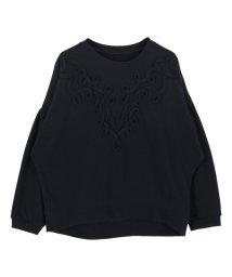 titivate/コード刺繍デザインスウェットプルオーバー/500742246