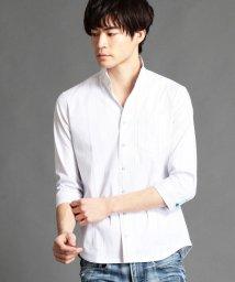 NICOLE CLUB FOR MEN/イタリアンカラー七分袖シャツ/500722880