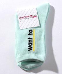 Lovetoxic/ロゴ入りクルーソックス/500730195