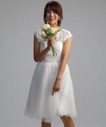 form forma/【結婚式・ウェディングドレス】kaene/ブラウス付き チュールレースショートフレアウェディングドレス/500731764