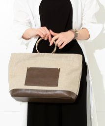 BEAMS OUTLET/Demi-Luxe BEAMS / リングハンドル 麻トートバッグ/500743818