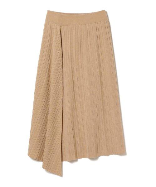 BEAMS OUTLET(ビームス アウトレット)/Demi-Luxe BEAMS / ランダムリブ アシンメトリーニットスカート/68270334126