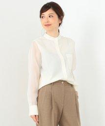 Demi-Luxe BEAMS/【市川美和子着用】【カタログ掲載】Demi-Luxe BEAMS / スタンドカラー ウールシャツ/500756354