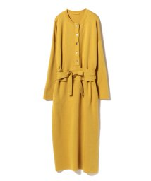 BEAMS OUTLET/Demi-Luxe BEAMS / ベルト付ヘンリーニット ワンピース/500756385