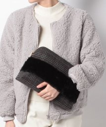 SMIR NASLI/Combination Fur Clutch/500720264