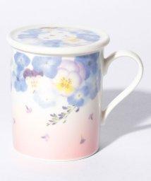 Afternoon Tea LIVING/水彩フラワー柄蓋付きマグカップ/500730912