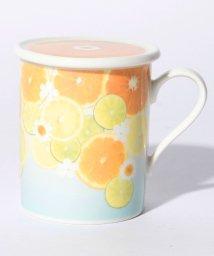 Afternoon Tea LIVING/水彩フルーツ柄蓋付きマグカップ/500730913