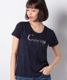 INTERPLANET/箔プリントスパンコール刺繍Tシャツ/500732165