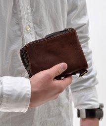DEVICE/DEVICEヴィンテージ ダブルジップ二つ折り財布/500743735