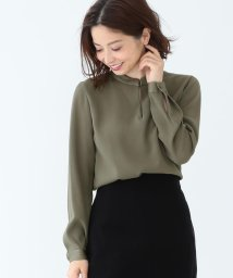 Demi-Luxe BEAMS/【洗える】Demi-Luxe BEAMS / サテンステッチ スキッパーシャツ/500756355
