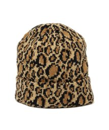 BEAMS OUTLET/NEW YORK HAT / レオパード ワッチキャップ/500757962