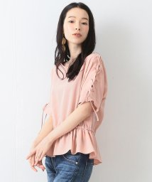 BEAMS OUTLET/Ray BEAMS / レースアップスリーブ ペプラムブラウス/500760059