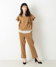BEAMS OUTLET/Ray BEAMS / ラッフルスリーブブラウス+パンツ セット/500760142