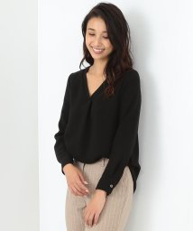 Demi-Luxe BEAMS/【BAILA10月号掲載】Demi-Luxe BEAMS / Vネック切替ブラウス/500760587