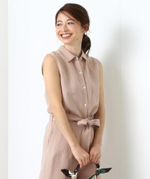 BEAMS OUTLET/Demi-Luxe BEAMS / リネンレーヨン ノースリーブシャツ/500760628