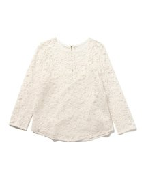 Demi-Luxe BEAMS/Demi-Luxe BEAMS / レースクルーネックブラウス/500760667