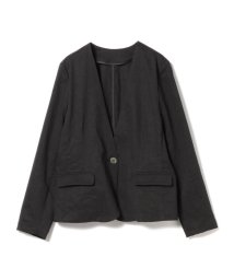 BEAMS OUTLET/【洗える】Demi-Luxe BEAMS / トリアセ麻ノーカラージャケット/500760714