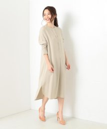 BEAMS OUTLET/Demi-Luxe BEAMS / クルーネック シャツ型ワンピース/500760755