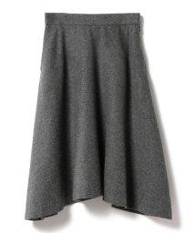 BEAMS OUTLET/Demi-Luxe BEAMS / ウールビーバーアシメフレアースカート/500760818