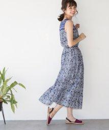 coen/【『リンネル』6月号掲載・Market】プリントマキシワンピース/500760839