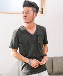 CavariA/CavariA【キャバリア】インディゴ染め天竺クルーネック×Vネック半袖Tシャツ/500761032