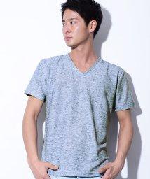 CavariA/CavariA【キャバリア】リップルスラブVネック半袖Tシャツ/500762160
