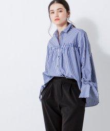LANVIN en Bleu/リボンスリーブシャツ/LB0004769