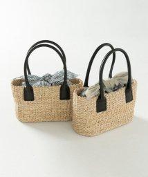 JIYU-KU /【マガジン掲載】インバッグ付き かごバッグ(検索番号F97)/500763491