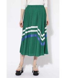 ROSE BUD/配色ボーダープリーツスカート/500763602