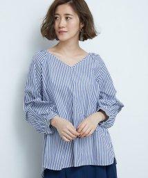 ROPE' PICNIC/ねじりタックストライプシャツ/500763802