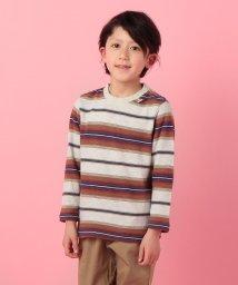 KRIFF MAYER(Kids)/さらさらボーダーロンTEE(120〜130cm)/500735555