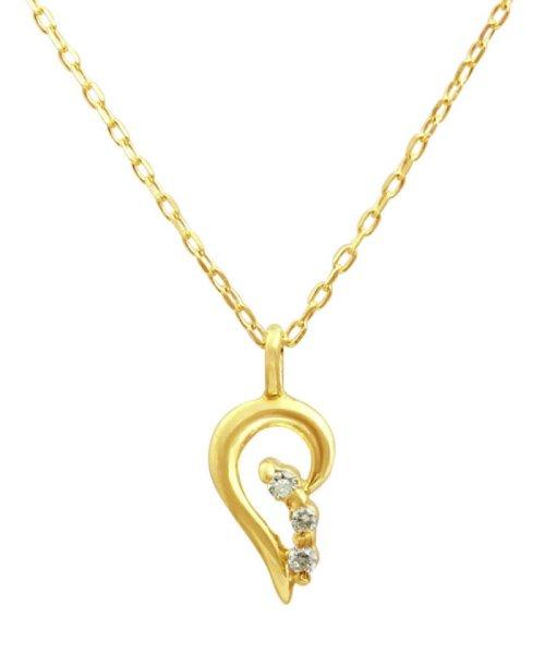 JEWELRY SELECTION(ジュエリーセレクション)/贅沢なオール18金ゴールド!K18ゴールド 天然ダイヤモンド ネックレス 選べる3カラー 【ティアドロップ/K18YG】/NSUZ12622001CTA40K18YG
