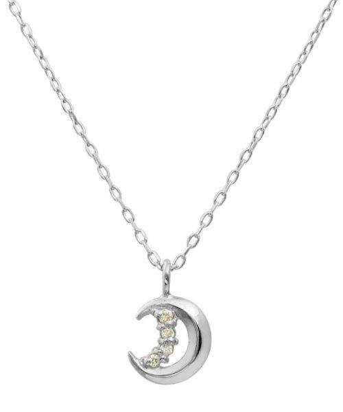 JEWELRY SELECTION(ジュエリーセレクション)/贅沢なオール18金ゴールド!K18ゴールド 天然ダイヤモンド ネックレス 選べる3カラー 【ムーン/K18WG】/NSUZ12661001CTA40K18WG