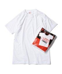 BEAMS MEN/HANES × BEAMS / 別注 赤ラベル パックTシャツ(3枚組)/500766847