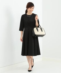BEAMS OUTLET/Demi-Luxe BEAMS / タックフレアー サテンワンピース/500767012