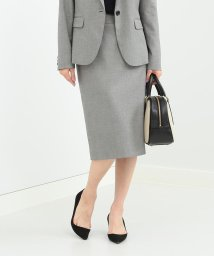 Demi-Luxe BEAMS/Demi-Luxe BEAMS / シャークスキン セミタイトスカート/500767015