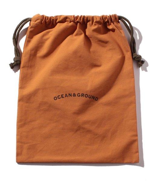OCEAN&GROUND(オーシャンアンドグラウンド)/コットン巾着大 O&G/1815901