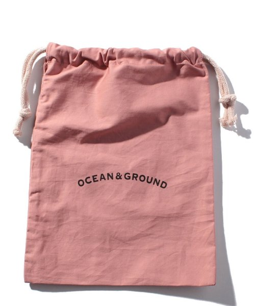OCEAN&GROUND(オーシャンアンドグラウンド)/コットン巾着中  O&G/1815902