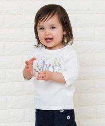 SHIPS KIDS/SHIPS KIDS:ホワイトアニマル プリント ベビー 7分袖 TEE(80~90cm)/500767958