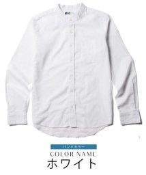 THE CASUAL/(バイヤーズセレクト) Buyer's Select 綿100%ブロード ボタンダウン/バンドカラー 長袖シャツ/500768379