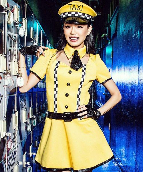 Cosplay【コスプレ】NYタクシードライバー 5点セット(ワンピース、ネクタイ、ベルト、帽子、手袋)