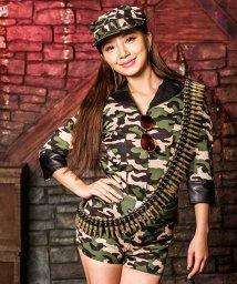 Dita/costume【コスチューム】コスプレ/フル装備迷彩アーミー6点セット(帽子、シャツ、パンツ、ベルト、弾倉、サングラス)/500769448