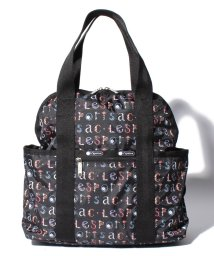 LeSportsac/DOUBLE TROUBLE BACKPACK フローラルアルファベット/LS0019717