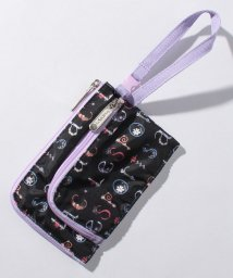 LeSportsac/CURVED COIN POUCH フローラルアルファベットアクセ/LS0019744