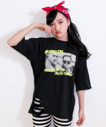 ANAP GiRL/ダメージフォト5分袖Tシャツ/500761657