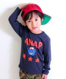 ANAP KIDS/手書きキャラクターロングTシャツ/500761694
